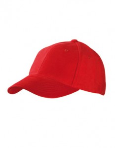 6-Panel Raver Cap laminiert MB6128 Signal Red