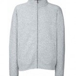 Classic Sweat Jacket F457N Heather Grey