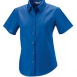 Kurzärmelige Oxford-Bluse Aztec Blue