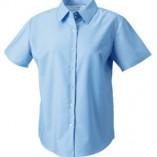 Kurzärmelige Oxford-Bluse Oxford Blue