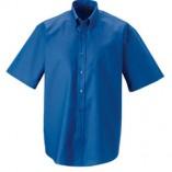 Kurzärmeliges Oxford Hemd mit BT Aztec Blue