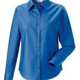 Langärmelige Oxford-Bluse Aztec Blue