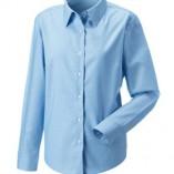 Langärmelige Oxford-Bluse Oxford Blue