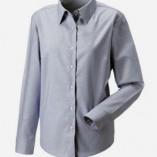 Langärmelige Oxford-Bluse Silver