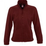 Womens Fleecejacket North L745 Burgundy