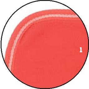1 – Rot – Borte rot mit Weiß