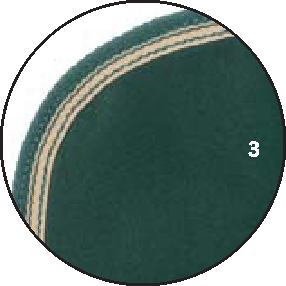 3 – Grün Borte grün mit Beige