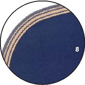 8 – Navy – Borte blau mit Beige